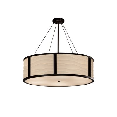 Salaam 8-Light Drum Pendant Base Finish: Matte Black