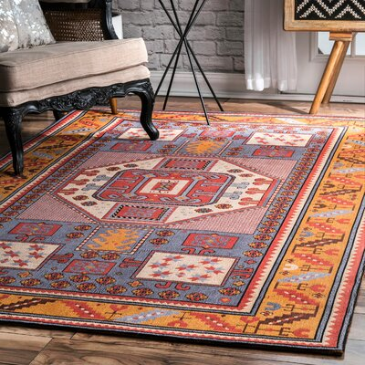 Doukala Multi-Colored Area Rug Rug Size: Rectangle 76 x 96