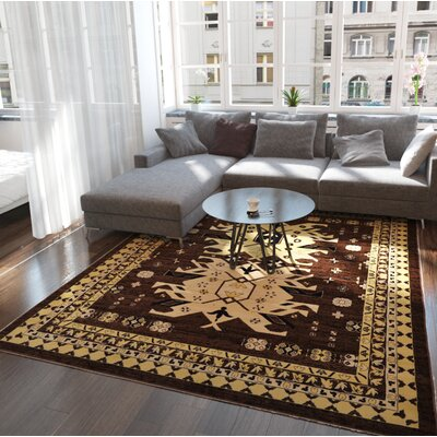 Valley Brown Area Rug Rug Size: Rectangle 910 x 13