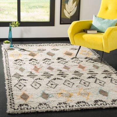 Gretta Natural/Multi Geometric Area Rug Rug Size: Rectangle 5 x 8