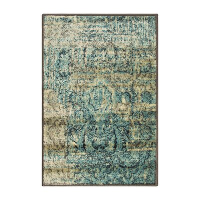 Kaetzel Beige/Blue Area Rug Rug Size: Rectangle 2 x 3