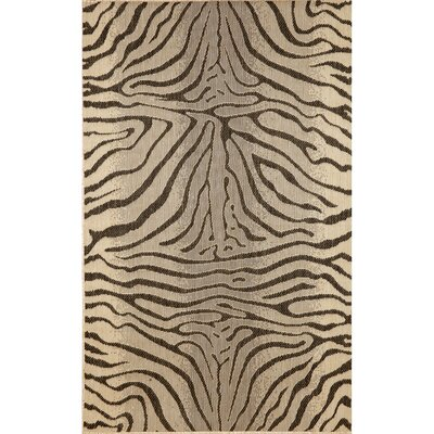Slimane Charcoal Zebra Indoor/Outdoor Rug Rug Size: Rectangle 710 x 910