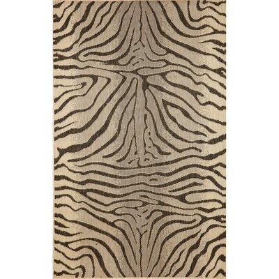 Slimane Charcoal Zebra Indoor/Outdoor Rug Rug Size: Rectangle 411 x 76