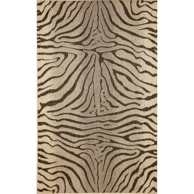 Slimane Charcoal Zebra Indoor/Outdoor Rug Rug Size: Rectangle 33 x 411