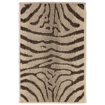 Slimane Charcoal Zebra Indoor/Outdoor Rug Rug Size: Rectangle 111 x 211