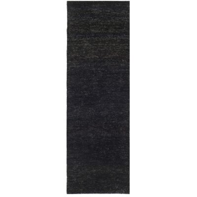 Parisi Black Area Rug Rug Size: Runner 26 x 8