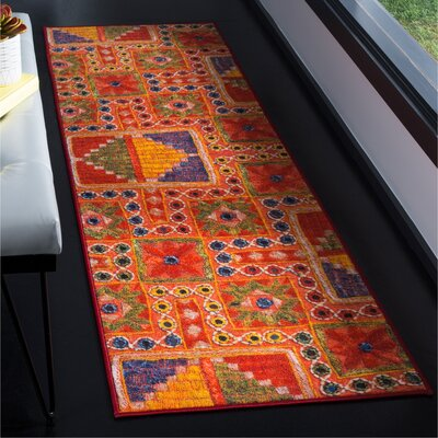 Azilal Orange Area Rug Rug Size: Runner 23 x 8