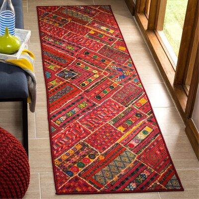 Azilal Red Indoor/Outdoor Area Rug Rug Size: Runner 23 x 8