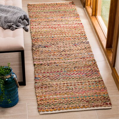Bowen Hand-Woven Green/Red Area Rug Rug Size: Runner 2'3