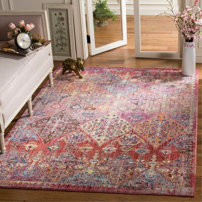 Culross Rose/Purple Area Rug Rug Size: Rectangle 51 x 76