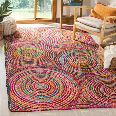 Bowen Hand-Woven Red/Yellow/Puple Area Rug Rug Size: Rectangle 5 x 8