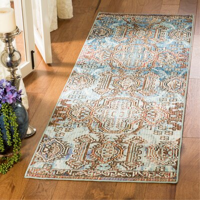 Wooten Blue/Light Blue Area Rug Rug Size: Runner 22 x 7