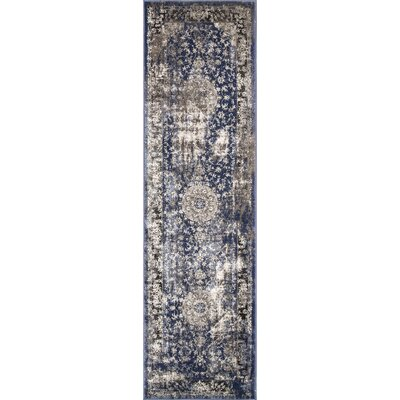 Dippach Blue/Beige Area Rug Rug Size: Runner 25 x 8