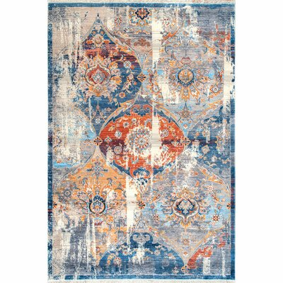 Arteaga Blue Area Rug Rug Size: Rectangle 4 x 6