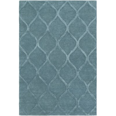 Massey Hand-Tufted Light Blue Area Rug Rug Size: Rectangle 5 x 76