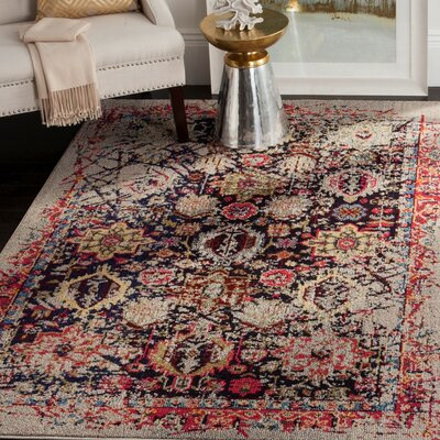 Solum Gray/Multi Area Rug Rug Size: Rectangle 4 x 57