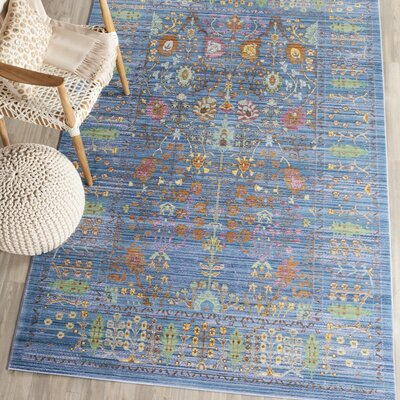 Misael Blue Area Rug Rug Size: Rectangle 4 x 6