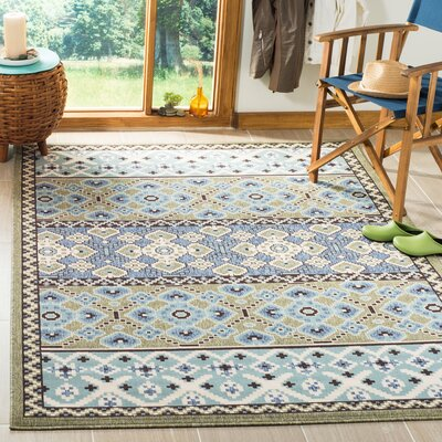 Serrano Green / Blue Area Rug Rug Size: Rectangle 53 x 77