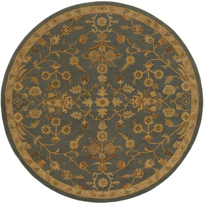 Topaz Charcoal/Tan Area Rug Rug Size: Round 99