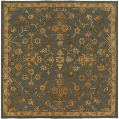 Topaz Charcoal/Tan Area Rug Rug Size: Square 99