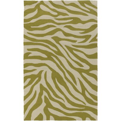 Slivno Light Gray/Olive Indoor/Outdoor Rug Rug Size: Rectangle 9 x 12