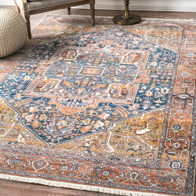 Artemas Rust Area Rug Rug Size: Rectangle 5 x 79