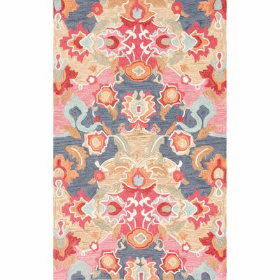 Maastricht Blue/Red Area Rug Rug Size: Runner 26 x 8