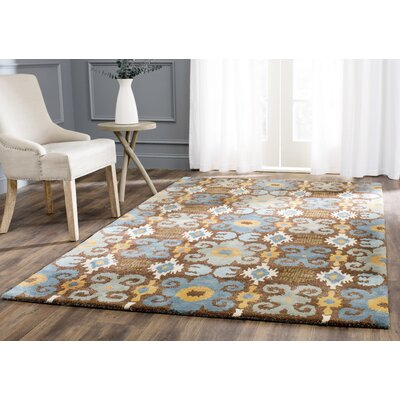 Dorthy Brown/Blue Rug Rug Size: Rectangle 2 x 3
