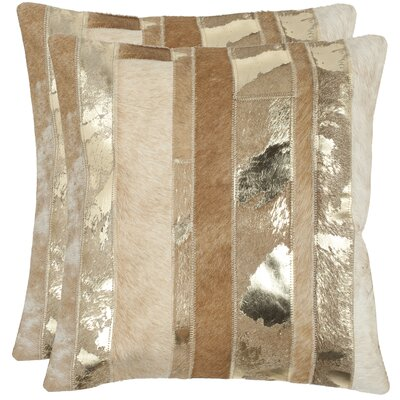 Braelyn 100% Cotton Throw Pillow Color: Gold, Size: 22 H x 22 W