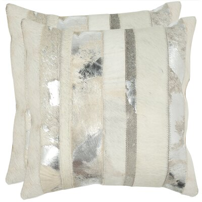 Braelyn 100% Cotton Throw Pillow Color: Silver, Size: 18 H x 18 W