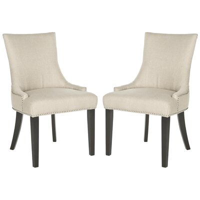 Carraway Upholstered Dining Chair Upholstery Color: Fabric Antique Gold
