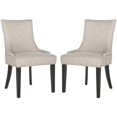 Carraway Upholstered Dining Chair Upholstery Color: Fabric Grey