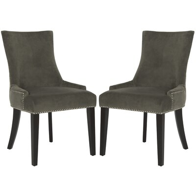 Carraway 36.4 Side Chair Upholstery: Velvet - Graphite