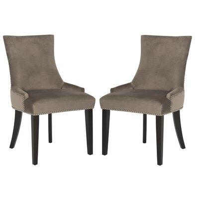 Carraway Upholstered Dining Chair Upholstery Color: Velvet Mushroom