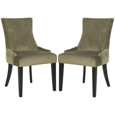 Carraway Upholstered Dining Chair Upholstery Color: Velvet Evergreen