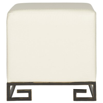 Pennyfield Cube Ottoman Upholstery: Cream