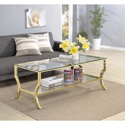 Derringer Coffee Table Base Finish: Gold