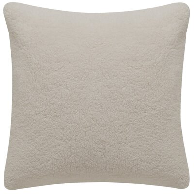 Bert Faux Fur Marshmallow Suede Throw Pillow