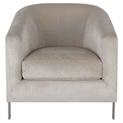Reynaldo Barrel Chair Upholstery: White
