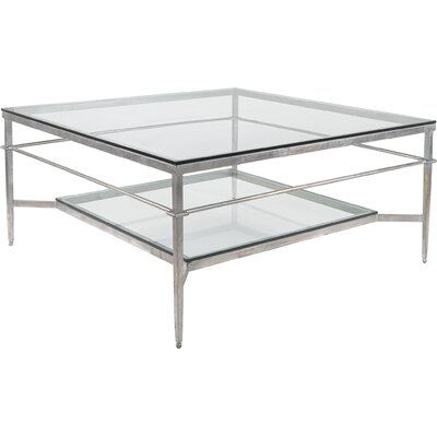 Reynaldo Square Coffee Table Base Color: Glossy Silver