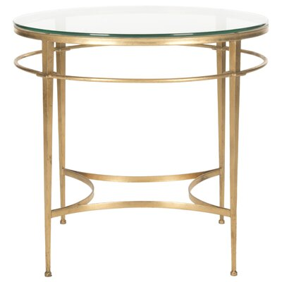 Marcia Round Glass End Table