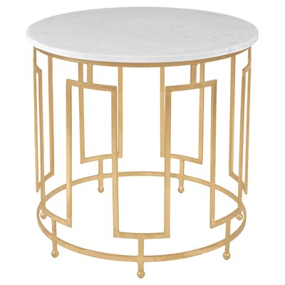 Marcia Round Metal End Table