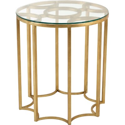 Marcia Round Iron/Glass End Table