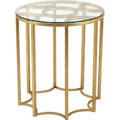 Reynaldo Round Iron/Glass End Table