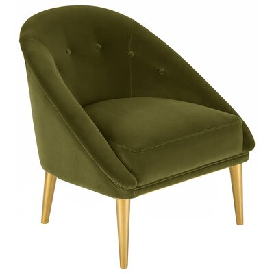 Priya Barrel Chair Upholstery: Olive