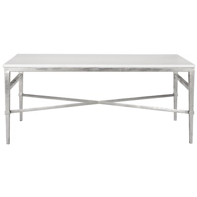 Reynaldo Rectangle Coffee Table Base Color: Antique Silver Gilt WRLO5811 40710429
