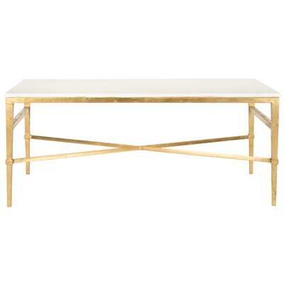 Reynaldo Rectangle Coffee Table Base Color: Antique Gold Gilt