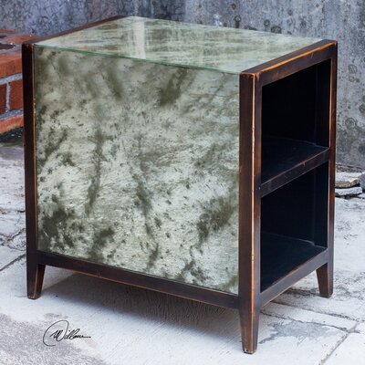 Berrechid Antique Mirror End Table