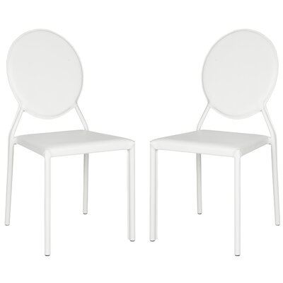 Larissa Side Chair Upholstery: PVC+Sponge - White