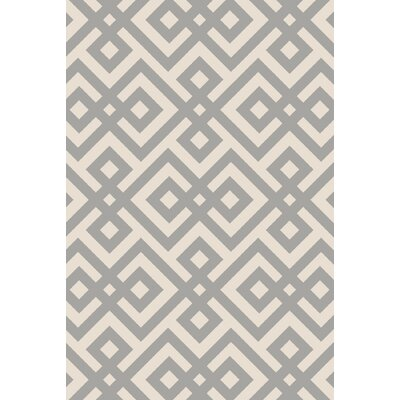Luke Hand-Hooked Light Gray Area Rug Rug Size: Rectangle 5 x 76
